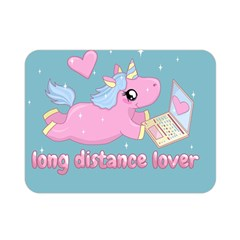 Long Distance Lover   Cute Unicorn Double Sided Flano Blanket (mini)  by Valentinaart