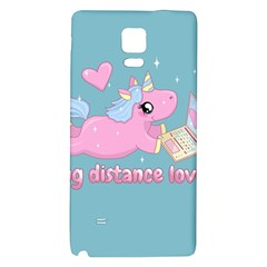 Long Distance Lover   Cute Unicorn Samsung Note 4 Hardshell Back Case by Valentinaart