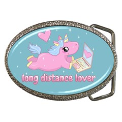 Long Distance Lover   Cute Unicorn Belt Buckles by Valentinaart