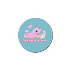 Long Distance Lover   Cute Unicorn Golf Ball Marker (4 Pack) by Valentinaart