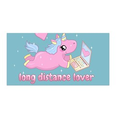 Long Distance Lover   Cute Unicorn Satin Wrap by Valentinaart