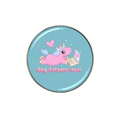 Long Distance Lover   Cute Unicorn Hat Clip Ball Marker (4 Pack)
