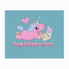 Long Distance Lover   Cute Unicorn Small Glasses Cloth by Valentinaart