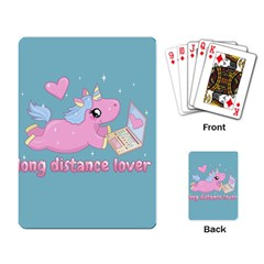 Long Distance Lover   Cute Unicorn Playing Card