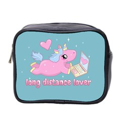 Long Distance Lover   Cute Unicorn Mini Toiletries Bag 2 Side by Valentinaart