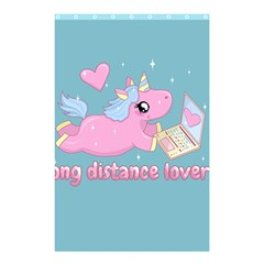 Long Distance Lover   Cute Unicorn Shower Curtain 48  X 72  (small)  by Valentinaart