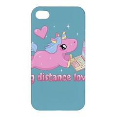 Long Distance Lover   Cute Unicorn Apple Iphone 4/4s Hardshell Case by Valentinaart