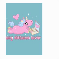 Long Distance Lover   Cute Unicorn Large Garden Flag (two Sides) by Valentinaart