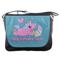 Long Distance Lover   Cute Unicorn Messenger Bags