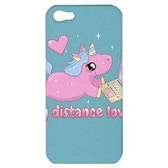 Long Distance Lover   Cute Unicorn Apple Iphone 5 Hardshell Case