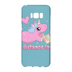 Long Distance Lover   Cute Unicorn Samsung Galaxy S8 Hardshell Case  by Valentinaart