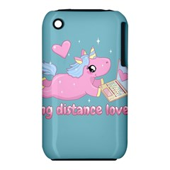 Long Distance Lover   Cute Unicorn Iphone 3s/3gs by Valentinaart