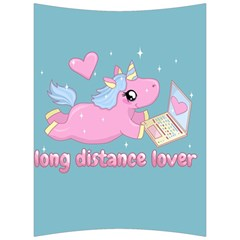 Long Distance Lover   Cute Unicorn Back Support Cushion by Valentinaart