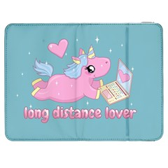 Long Distance Lover   Cute Unicorn Samsung Galaxy Tab 7  P1000 Flip Case by Valentinaart