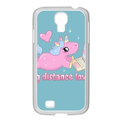Long Distance Lover   Cute Unicorn Samsung Galaxy S4 I9500/ I9505 Case (white) by Valentinaart