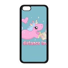Long Distance Lover   Cute Unicorn Apple Iphone 5c Seamless Case (black) by Valentinaart