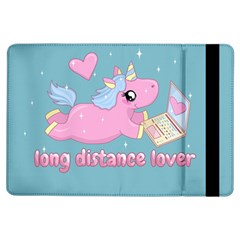 Long Distance Lover   Cute Unicorn Ipad Air Flip by Valentinaart