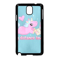 Long Distance Lover   Cute Unicorn Samsung Galaxy Note 3 Neo Hardshell Case (black) by Valentinaart