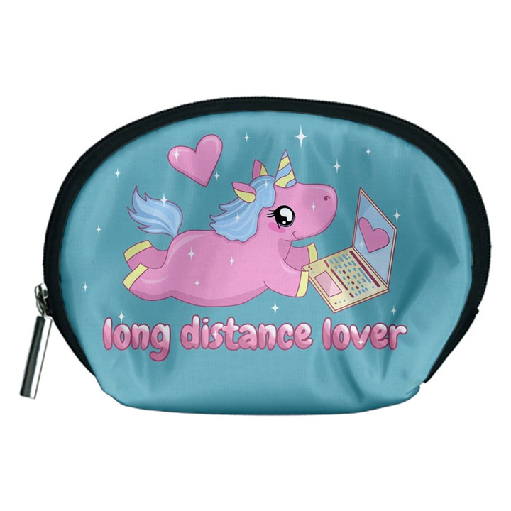 Long distance lover - Cute Unicorn Accessory Pouches (Medium)
