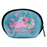 Long distance lover - Cute Unicorn Accessory Pouches (Medium)  Back