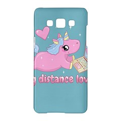 Long Distance Lover   Cute Unicorn Samsung Galaxy A5 Hardshell Case