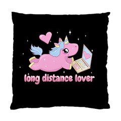 Long Distance Lover   Cute Unicorn Standard Cushion Case (one Side) by Valentinaart