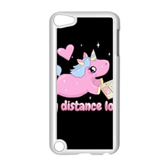 Long Distance Lover   Cute Unicorn Apple Ipod Touch 5 Case (white) by Valentinaart