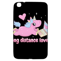 Long Distance Lover   Cute Unicorn Samsung Galaxy Tab 3 (8 ) T3100 Hardshell Case  by Valentinaart