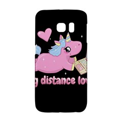 Long Distance Lover   Cute Unicorn Samsung Galaxy S6 Edge Hardshell Case