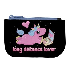 Long Distance Lover   Cute Unicorn Large Coin Purse