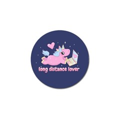 Long Distance Lover   Cute Unicorn Golf Ball Marker by Valentinaart