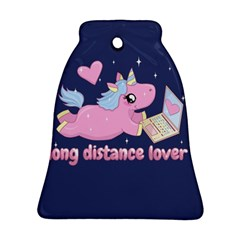 Long Distance Lover   Cute Unicorn Ornament (bell) by Valentinaart
