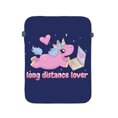 Long Distance Lover - Cute Unicorn Apple Ipad 2/3/4 Protective Soft Cases by Valentinaart