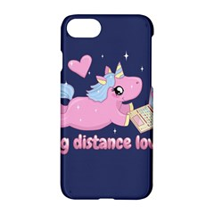 Long Distance Lover   Cute Unicorn Apple Iphone 7 Hardshell Case by Valentinaart