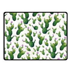 Cactus Pattern Fleece Blanket (small) by Valentinaart