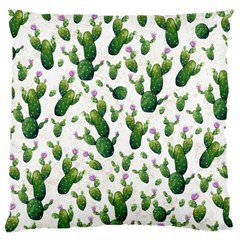 Cactus Pattern Large Cushion Case (two Sides) by Valentinaart