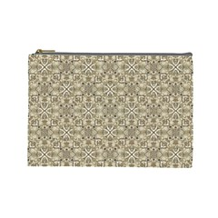 Modern Baroque Pattern Cosmetic Bag (large)  by dflcprints
