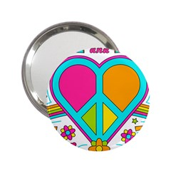 Love Peace Feelings Nature 2 25  Handbag Mirrors