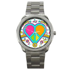 Love Peace Feelings Nature Sport Metal Watch by Sapixe