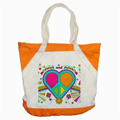 Love Peace Feelings Nature Accent Tote Bag by Sapixe