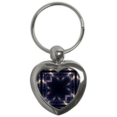 Cosmos Kaleidoscope Art Pattern Key Chains (heart)  by Sapixe