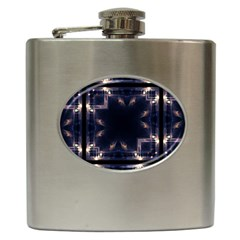 Cosmos Kaleidoscope Art Pattern Hip Flask (6 Oz) by Sapixe