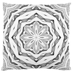 Mandala Pattern Floral Large Flano Cushion Case (two Sides) by Sapixe