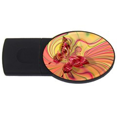Arrangement Butterfly Aesthetics Usb Flash Drive Oval (4 Gb)