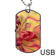 Arrangement Butterfly Aesthetics Dog Tag Usb Flash (one Side)