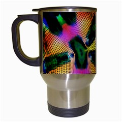 Butterfly Color Pop Art Travel Mugs (white) by Sapixe