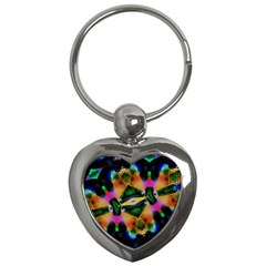Butterfly Color Pop Art Key Chains (heart)  by Sapixe