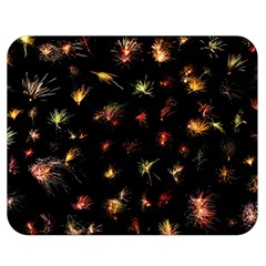 Fireworks Christmas Night Dark Double Sided Flano Blanket (medium)  by Sapixe