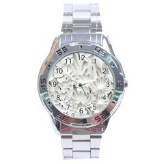 Pattern Motif Decor Stainless Steel Analogue Watch