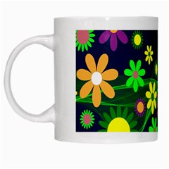 Flower Power Flowers Ornament White Mugs